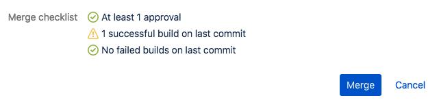PR merge checklist