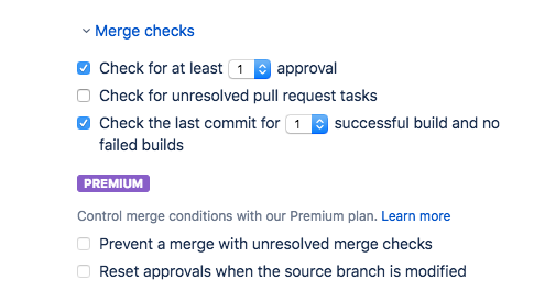 Enable the CI merge check
